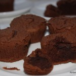 Babeczki z wypływającą czekoladą
