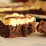 Brownie z kremem ajerkoniakowym