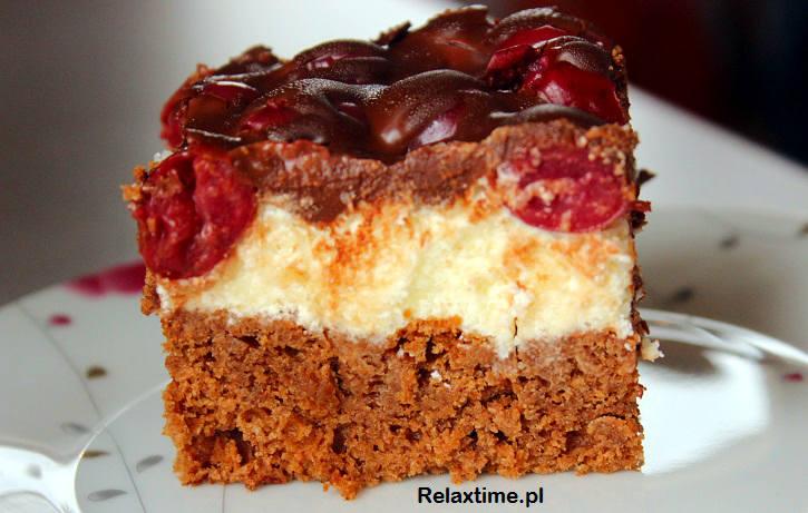 Ciasto czekoladowe z kremem z kaszy manny (2)