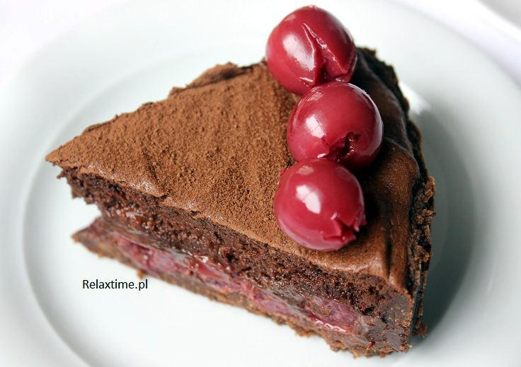 Tarta super czekoladowa z wiśniami