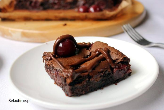 Brownie z wiśniami (9)
