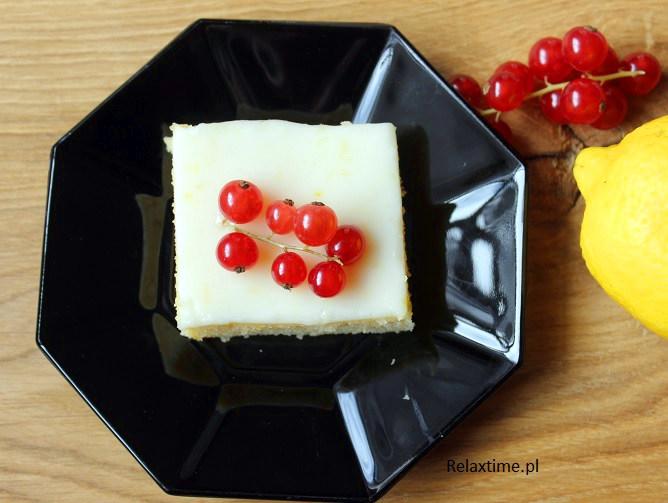 Brownie cytrynowe - czyli ciasto ucierane z lukrem