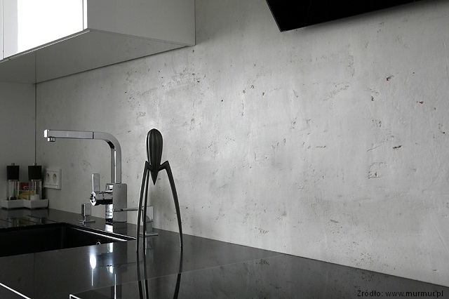 Ściana pokryta betonem architektonicznym