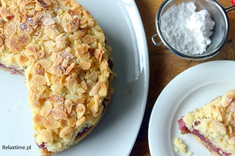Ciasto kruche, wiśnie i migdały - pyszne połączenie