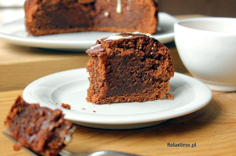 Ciasto z czekoladą i dżemem pomarańczowym