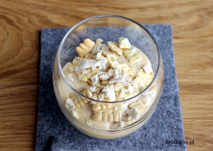 Krem krówkowy na bazie jogurtu greckiego