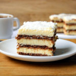 Ciasto bez pieczenia – kokosowa zebra