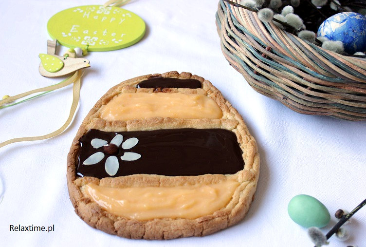 Ciasto kruche z kremem czekoladowo - cytrynowym
