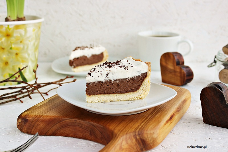 Ciasto kruche z kremem czekoladowym
