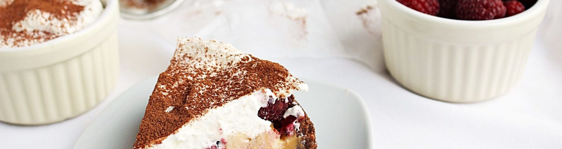 Malinowy banoffee pie – bez pieczenia
