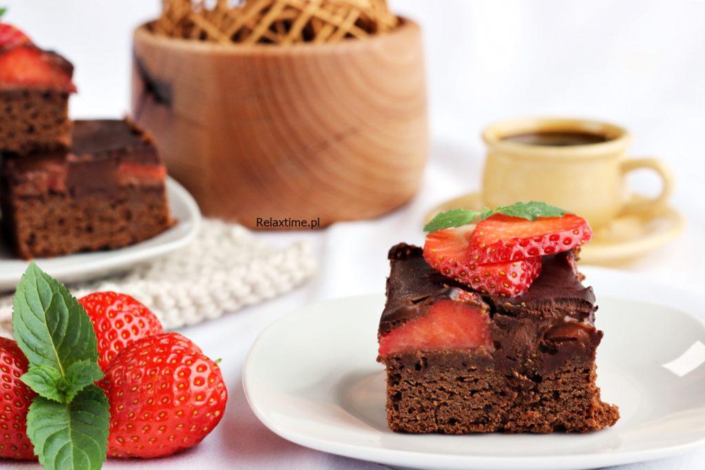 truskawki i czekolada
