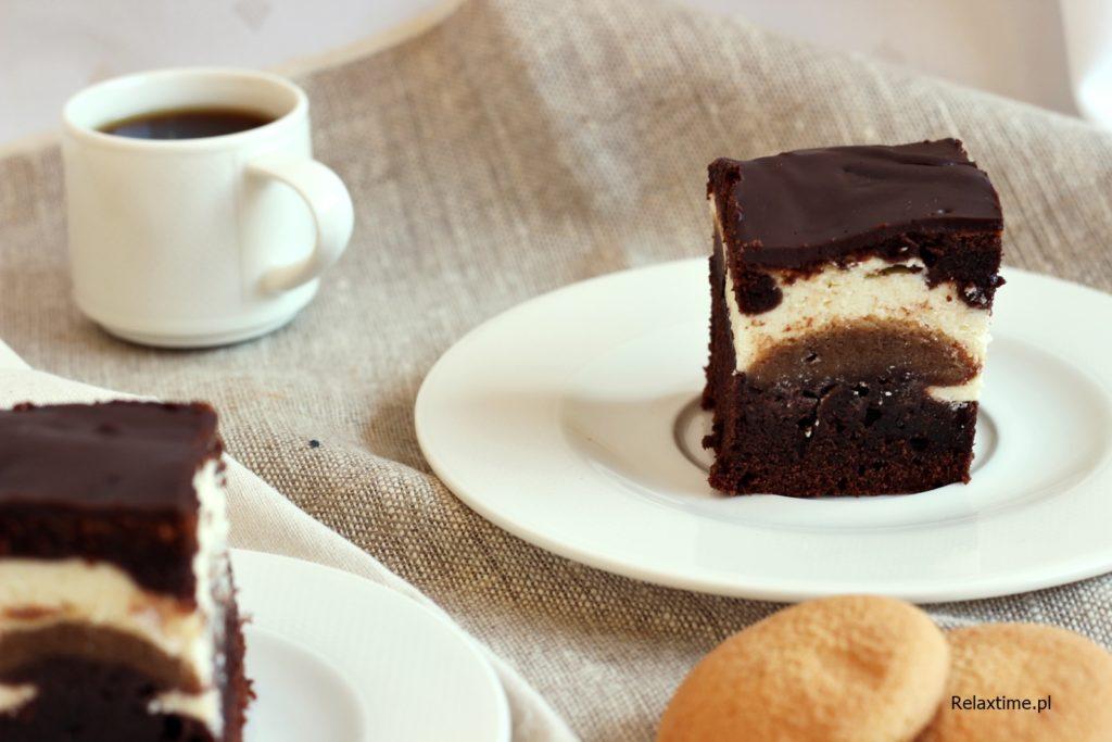 Ciasto czekoladowe o smaku tiramisu