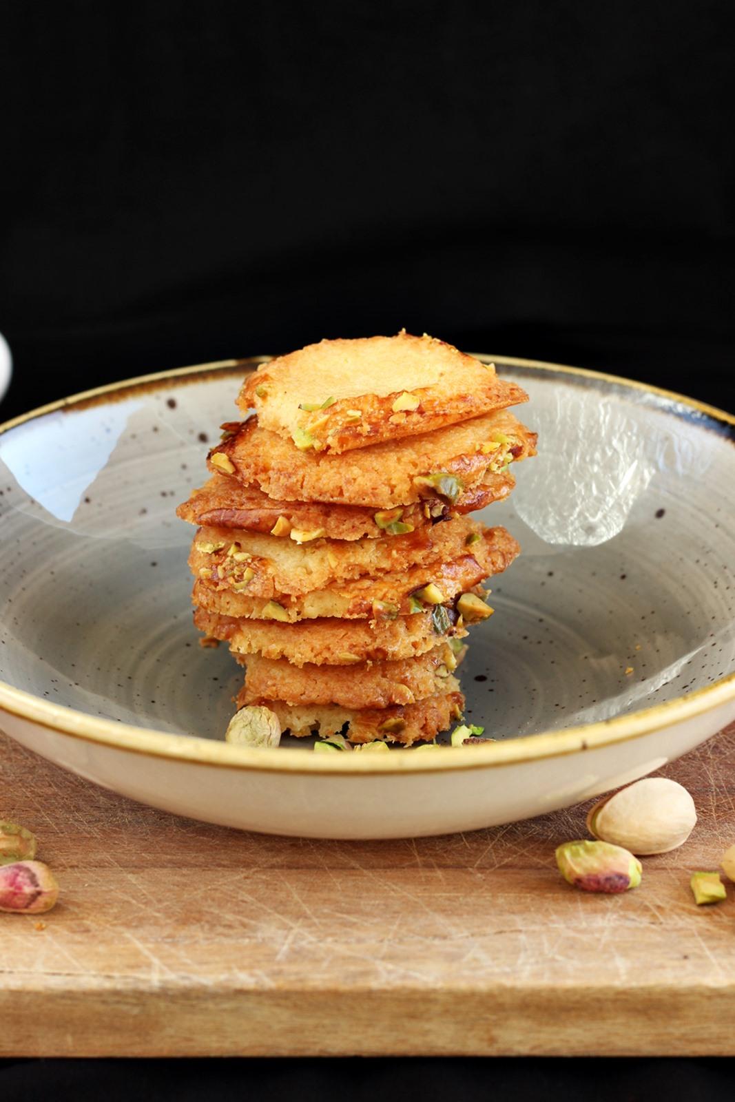 Ciasteczka z marcepanem i pistacjami