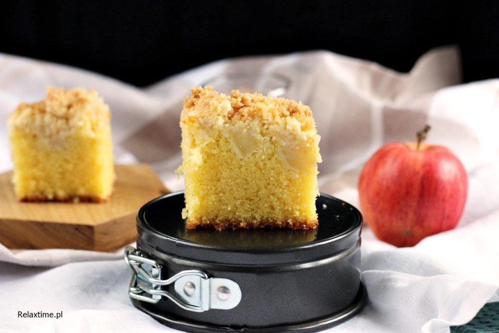 ciasto ucierane z jabłkami