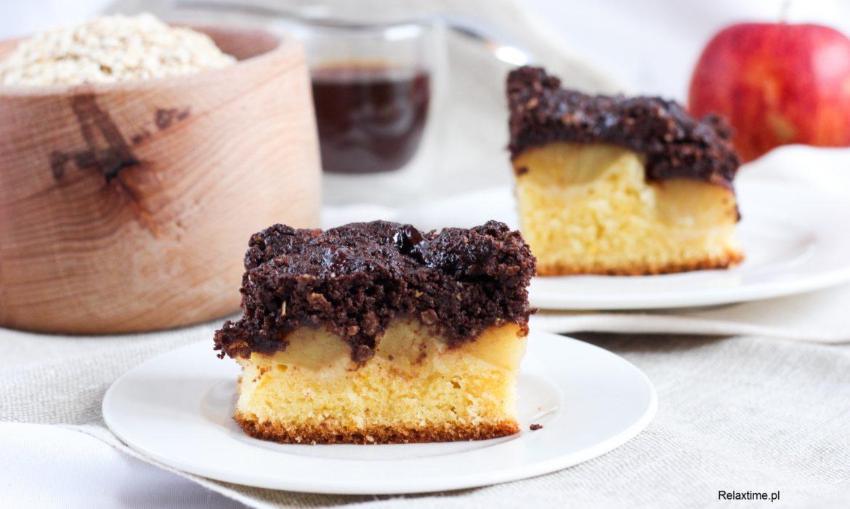 Ciasto z jabłkami i czekoladową kruszonką