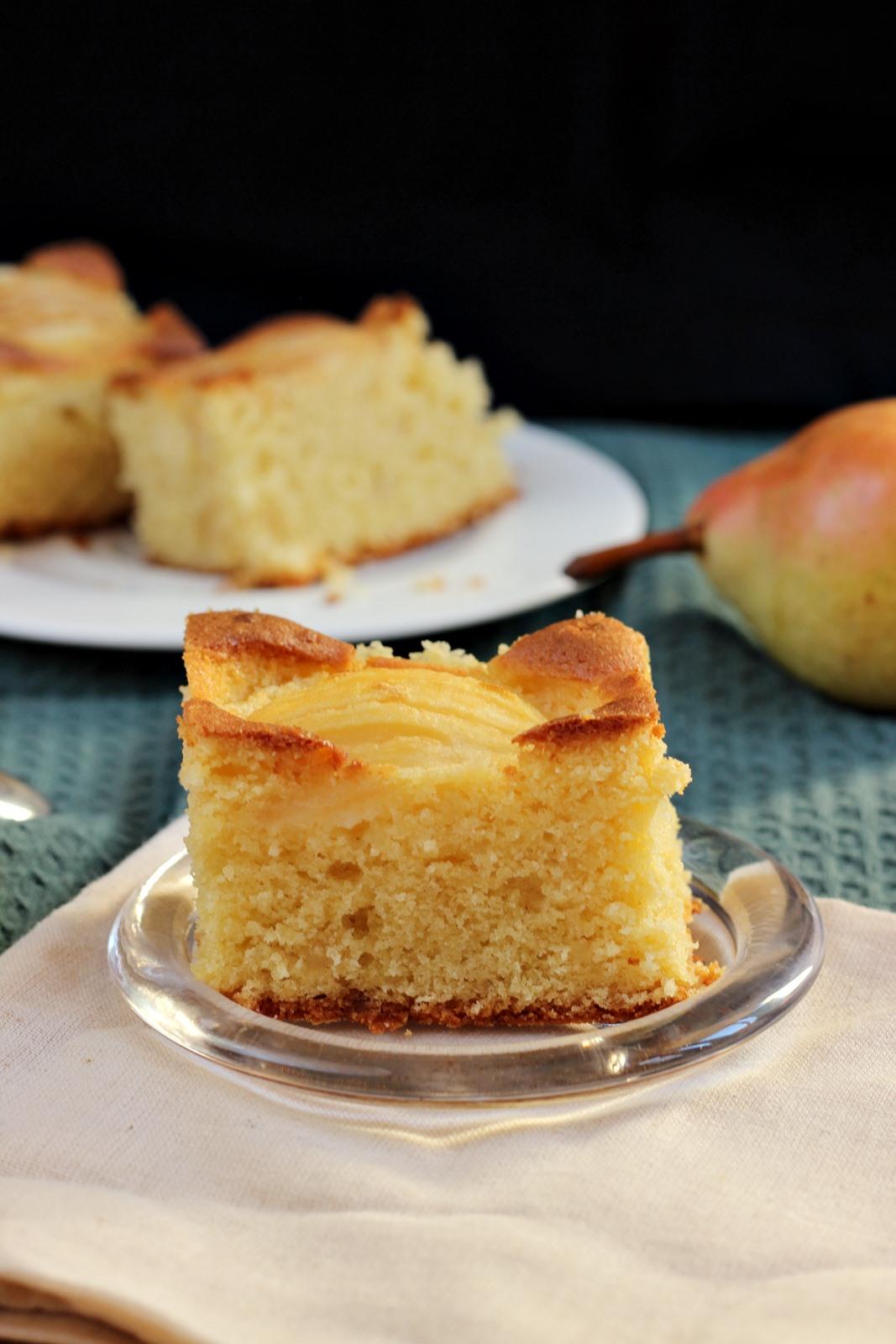 Ciasto gruszkowe z marcepanem